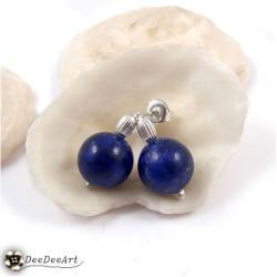 mini,lapis lazuli,niebieski,małe,sztyfty,wkrętki - Kolczyki - Biżuteria