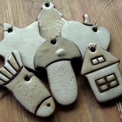 zawieszki,rustykalne,ozdoby choinkowe, - Ceramika i szkło - Wyposażenie wnętrz