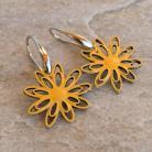 Kolczyki kwiaty,emaliowane