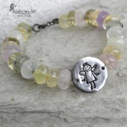 bransoleta,anioł,miłość,prezent - Bransoletki - Biżuteria