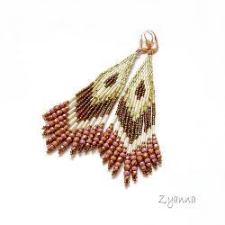 Kolczyki,indiańskie,stonowane - Kolczyki - Biżuteria