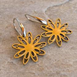 kwiaty,emaliowane - Kolczyki - Biżuteria