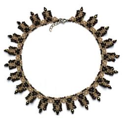 delikatna kolia z koralików - Naszyjniki - Biżuteria