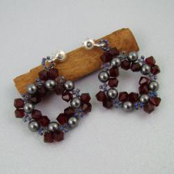 Swarovski,plecione,kwadrat - Kolczyki - Biżuteria