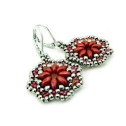 kolczyki,koralowe,czerwone,Extrano - Kolczyki - Biżuteria