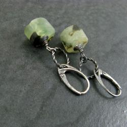 surowe,zielone - Kolczyki - Biżuteria