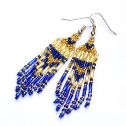 kolczyki indiańskie,etno - Kolczyki - Biżuteria
