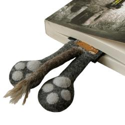 kot,ogon,łapy,prezent,książka,szkoła - Zakładki do książek - Akcesoria