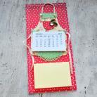 Notesy fartuszek,kalendarz,lodówka,magnes,kuchnia