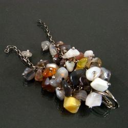pstelowe,długie - Kolczyki - Biżuteria