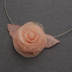 różą,delikatny,subtelny,lekki,oryginalny - Naszyjniki - Biżuteria