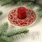 Ceramika i szkło podstawka,podkładka,talerzyk,ceramika,czerwona