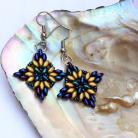 Kolczyki kolczyki gwiazdki,iris blue