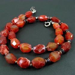 agat,jesienny,klasyczny - Naszyjniki - Biżuteria