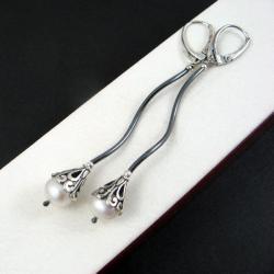 eleganckie,z perłami - Kolczyki - Biżuteria