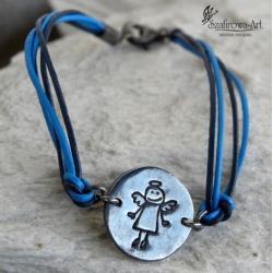bransoleta,anioł,srebro,prezent, - Bransoletki - Biżuteria