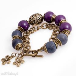 bransoletka,elagancka,fiolety,kobieca,kule - Bransoletki - Biżuteria