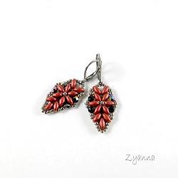 kolczyki,małe,delikatne,rude - Kolczyki - Biżuteria