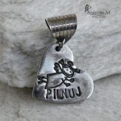 wisior,art clay,srebro,anioł,prezent,chrzest - Wisiory - Biżuteria