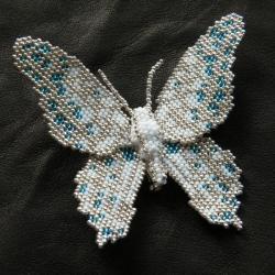 misterna,broszka,motyl,zima,subtelna,kobieca - Broszki - Biżuteria
