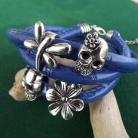 Bransoletki bransoletka,niebieska,czaszka,motyl,ważka