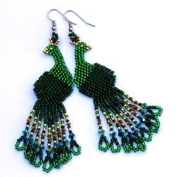 oryginalne kolczyki,koralikowe,plecionki - Kolczyki - Biżuteria