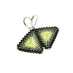 trójkąty,zielone,Extrano - Kolczyki - Biżuteria