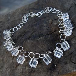 Naszyjnik,srebrny,kryształ górski - Naszyjniki - Biżuteria