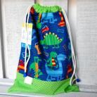 Dla dzieci worek przedszkolaka,worek dla dziecka,dinozaury