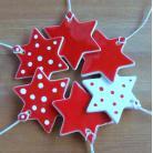 Ceramika i szkło gwiazdki,śnieżynki,zawieszki,ceramiczne,kropki
