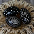 Inne pisanki,batik,Wielkanoc,black-white