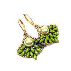 kolczyki,zielone,Extrano - Kolczyki - Biżuteria
