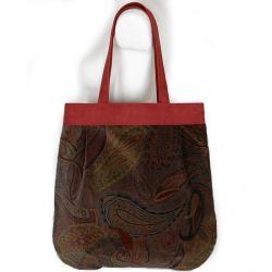 orientalny wzór,orient,bordowy zamsz,elegancka - Na ramię - Torebki