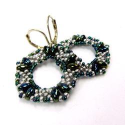 kolczyki,srebrne,pięciokąty - Kolczyki - Biżuteria