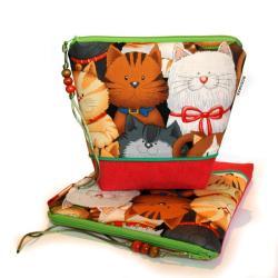 kosmetyczka,saszetka,prezent dla dziewczynki,koty, - Kosmetyczki - Dodatki