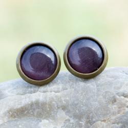 sztyfty,minimalistyczne,drobne,casual,kocie oko - Kolczyki - Biżuteria
