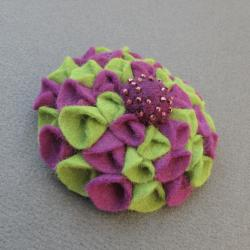 filc,kwiat,miękka,folkowa - Broszki - Biżuteria